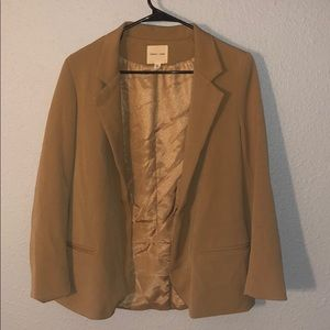 Tan boyfriend blazer by Silence + Noise